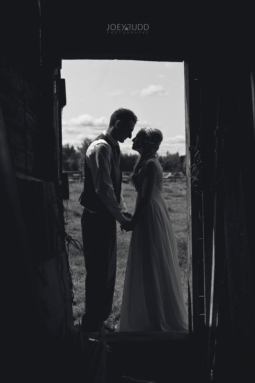 Ottawa Wedding Photography by Ottawa Wedding Photographer Joey Rudd Photography Elopement Carleton Place Smiths Falls Ontario Rustic Barn Silhouette