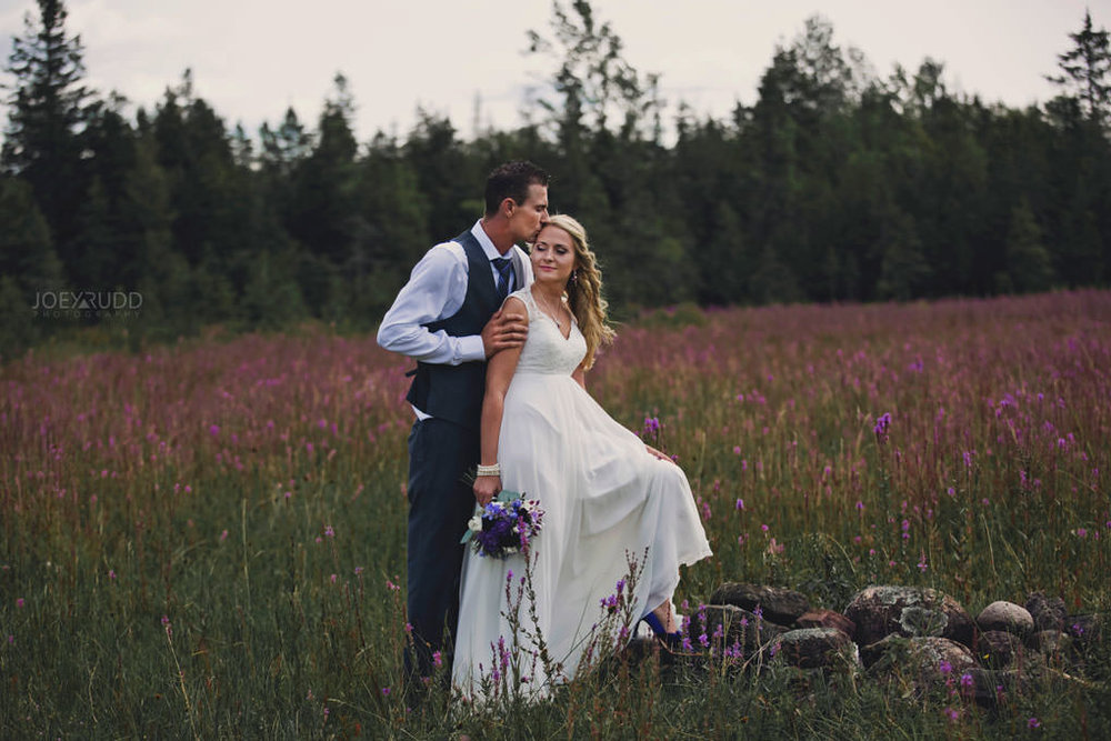 Ottawa Wedding Photography by Ottawa Wedding Photographer Joey Rudd Photography Elopement Carleton Place Smiths Falls Ontario Rustic Field of Flowers