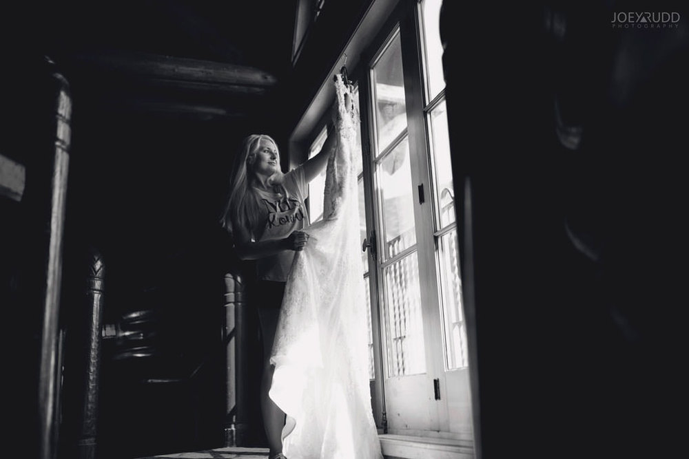 Ottawa & Quebec Wedding Photography by Ottawa Wedding Photographer Joey Rudd Photography Wedding at Fairmont Chateau Montebello Bride and Dress