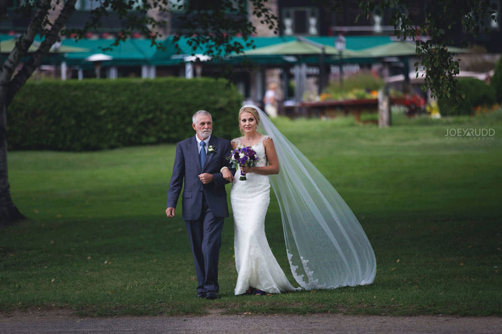 Ottawa & Quebec Wedding Photography by Ottawa Wedding Photographer Joey Rudd Photography Wedding at Fairmont Chateau Montebello Piper Avenue Wedding Ceremony Gazebo Bride Processional