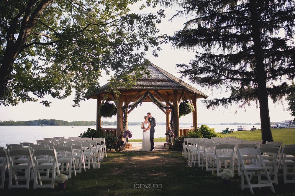 Ottawa & Quebec Wedding Photography by Ottawa Wedding Photographer Joey Rudd Photography Wedding at Fairmont Chateau Montebello Piper Avenue Wedding Ceremony Gazebo