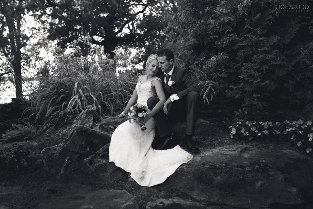 Ottawa & Quebec Wedding Photography by Ottawa Wedding Photographer Joey Rudd Photography Wedding at Fairmont Chateau Montebello Piper Avenue Wedding Bride and Groom Blacka dn White