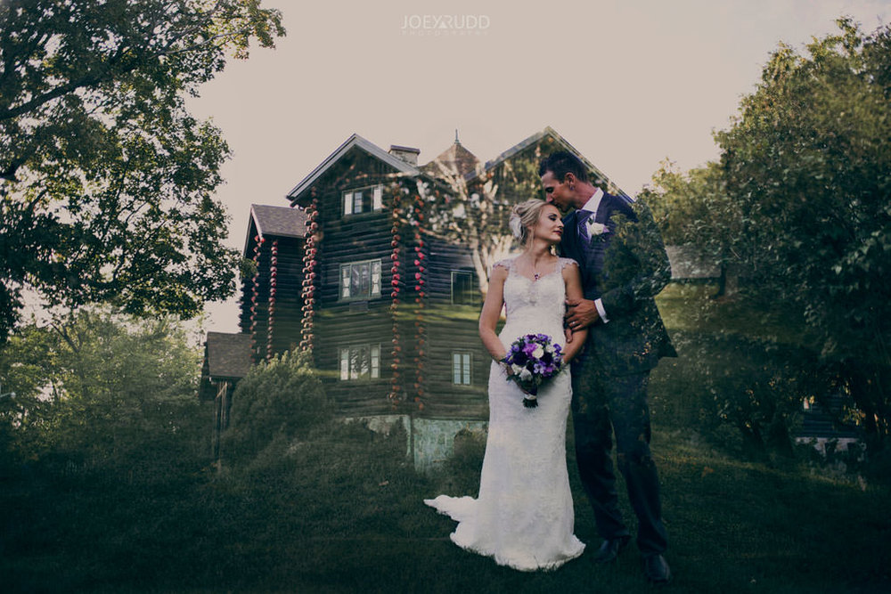 Ottawa & Quebec Wedding Photography by Ottawa Wedding Photographer Joey Rudd Photography Wedding at Fairmont Chateau Montebello Piper Avenue Wedding Bride and Groom Double Exposure
