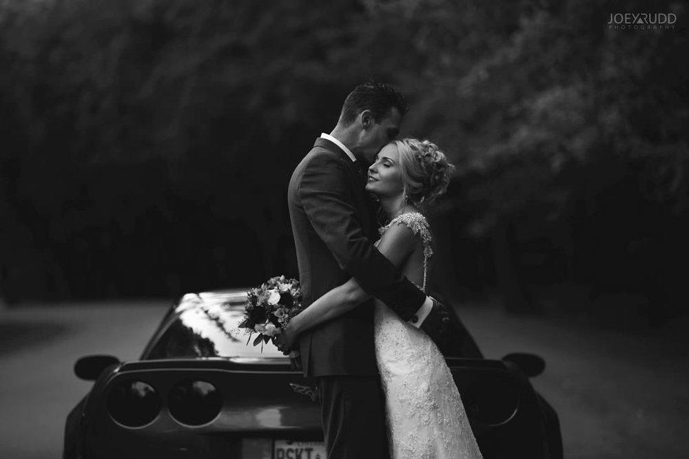 Ottawa & Quebec Wedding Photography by Ottawa Wedding Photographer Joey Rudd Photography Wedding at Fairmont Chateau Montebello Piper Avenue Wedding Bride and Groom Corvette