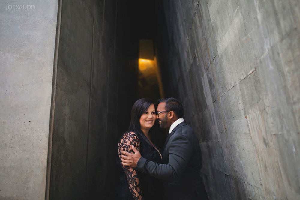 Canadian War Museum Engagement Photos by Ottawa Wedding Photographer Joey Rudd Photography Architecture