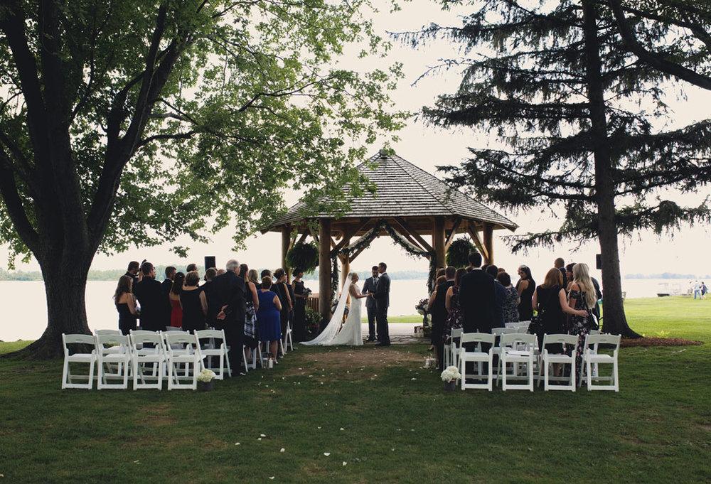 Fairmont Chateau Montebello Wedding by Ottawa Wedding Photographer Joey Rudd Photography Gazebo