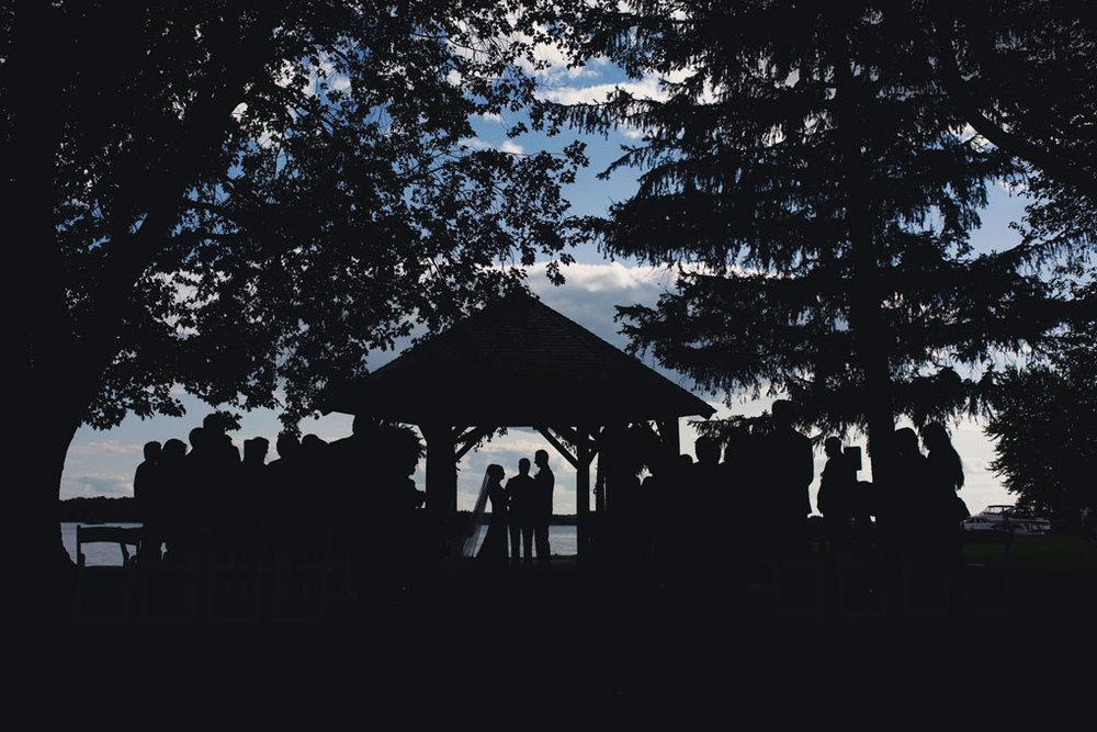 Fairmont Chateau Montebello Wedding by Ottawa Wedding Photographer Joey Rudd Photography Silhouette