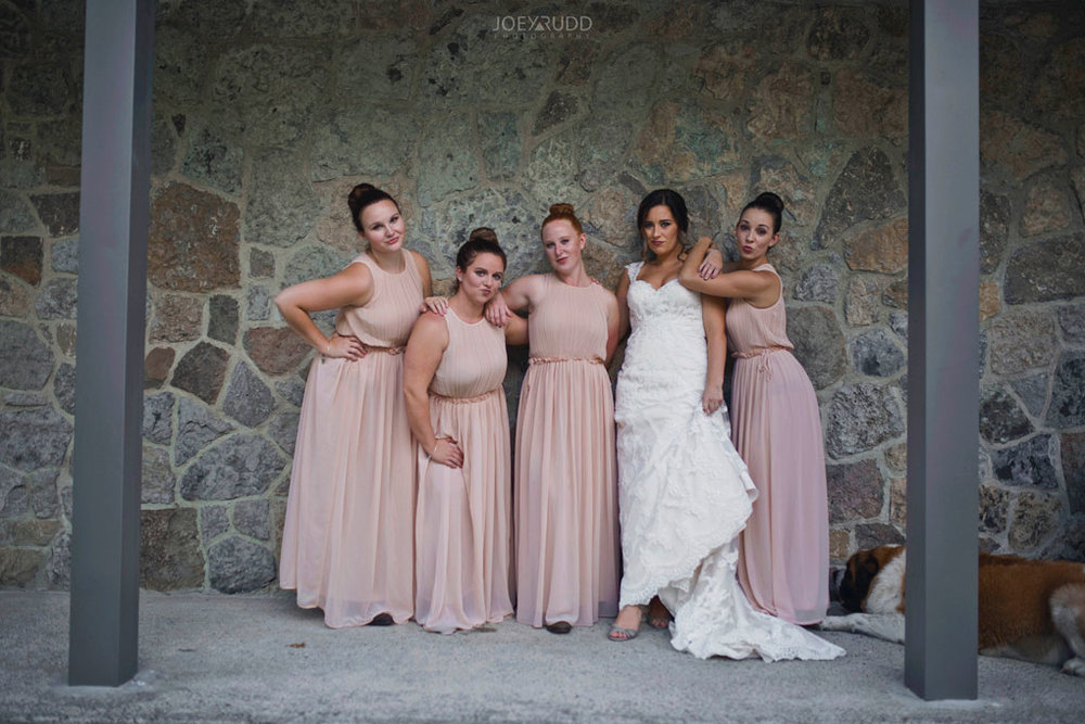 Bean Town Ranch Wedding by Ottawa Wedding Photographer Joey Rudd Photography bridesmaids pose