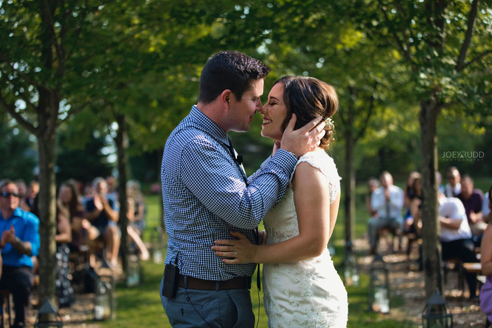 Bean Town Ranch Wedding by Ottawa Wedding Photographer Joey Rudd Photography kiss ceremony