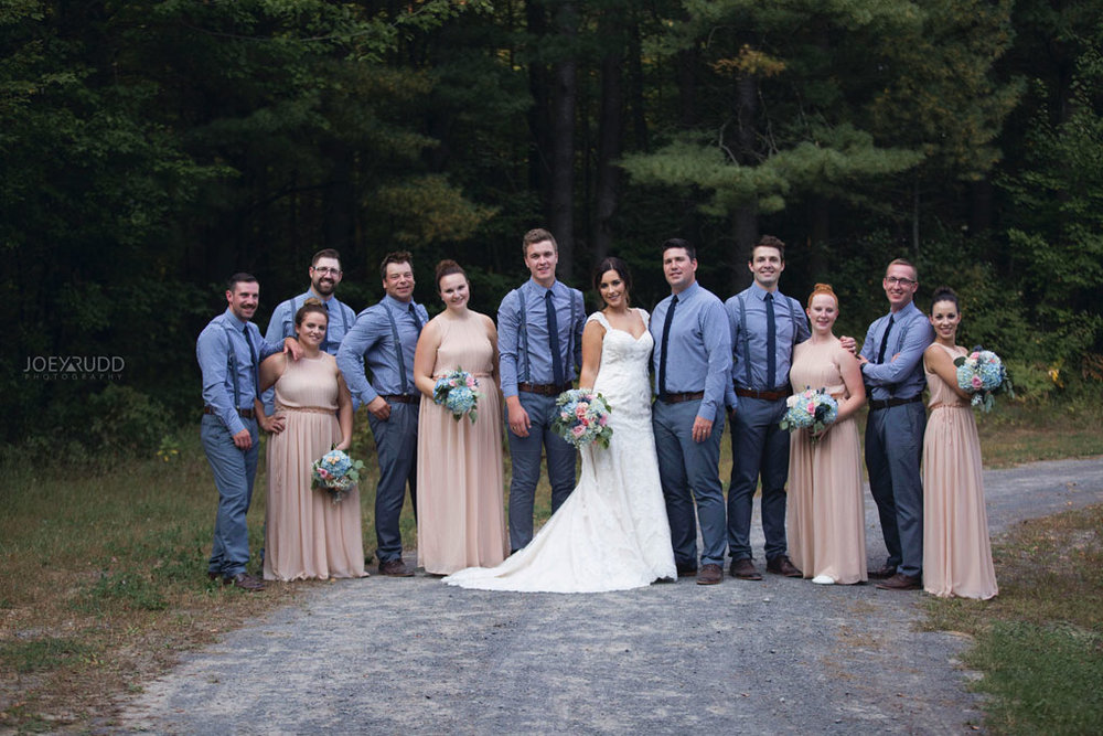 Bean Town Ranch Wedding by Ottawa Wedding Photographer Joey Rudd Photography wedding party