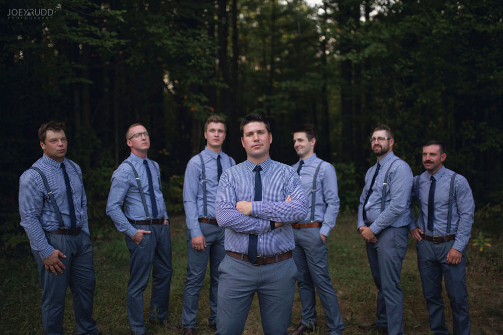Bean Town Ranch Wedding by Ottawa Wedding Photographer Joey Rudd Photography wedding party groomsmen