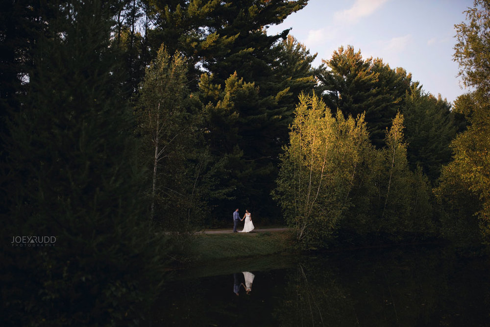 Bean Town Ranch Wedding by Ottawa Wedding Photographer Joey Rudd Photography Bridal Couple Pond