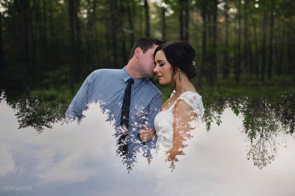 Bean Town Ranch Wedding by Ottawa Wedding Photographer Joey Rudd Photography Bridal Couple double exposure