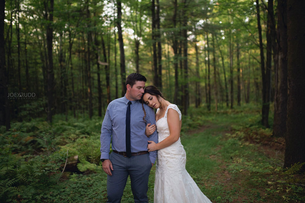 Bean Town Ranch Wedding by Ottawa Wedding Photographer Joey Rudd Photography Bridal Couple Trees