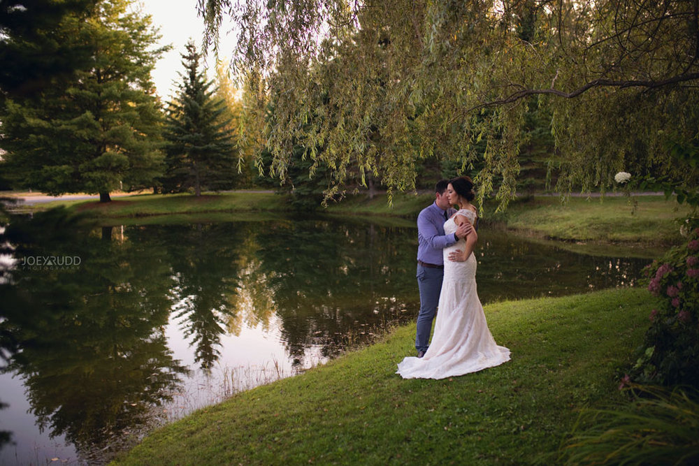 Bean Town Ranch Wedding by Ottawa Wedding Photographer Joey Rudd Photography Bridal Couple Willows