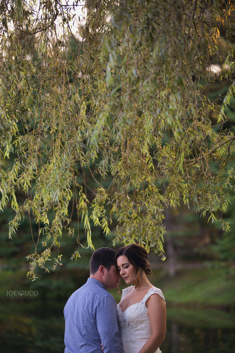 Bean Town Ranch Wedding by Ottawa Wedding Photographer Joey Rudd Photography Bridal Couple Weeping Willows