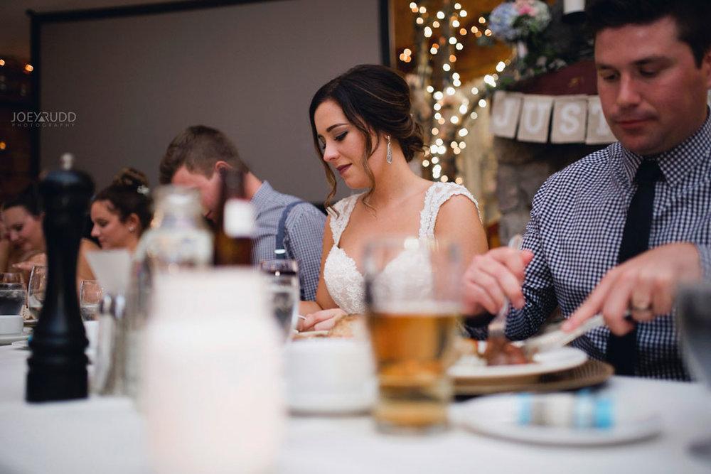 Bean Town Ranch Wedding by Ottawa Wedding Photographer Joey Rudd Photography Reception Wedding Venue Bride Candid