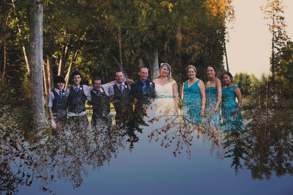 Sand Point Golf Course Wedding in Arnprior by Ottawa Wedding Photographer Joey Rudd Photography Bride and Groom Double Exposure