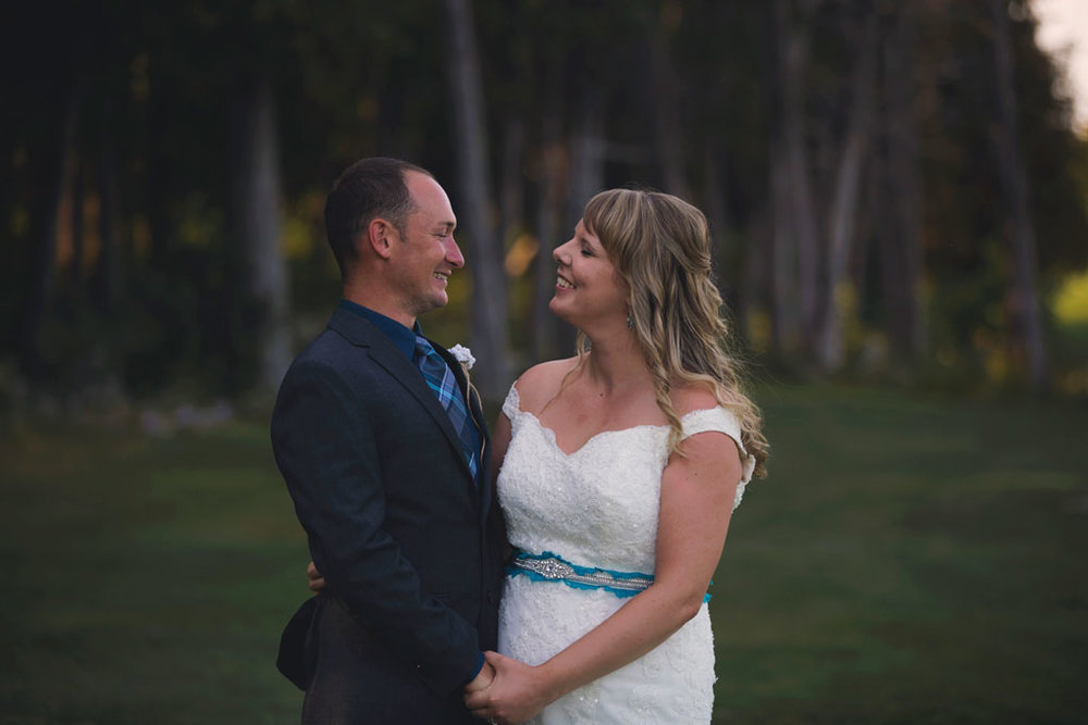 Sand Point Golf Course Wedding in Arnprior by Ottawa Wedding Photographer Joey Rudd Photography Bride and Groom Nature