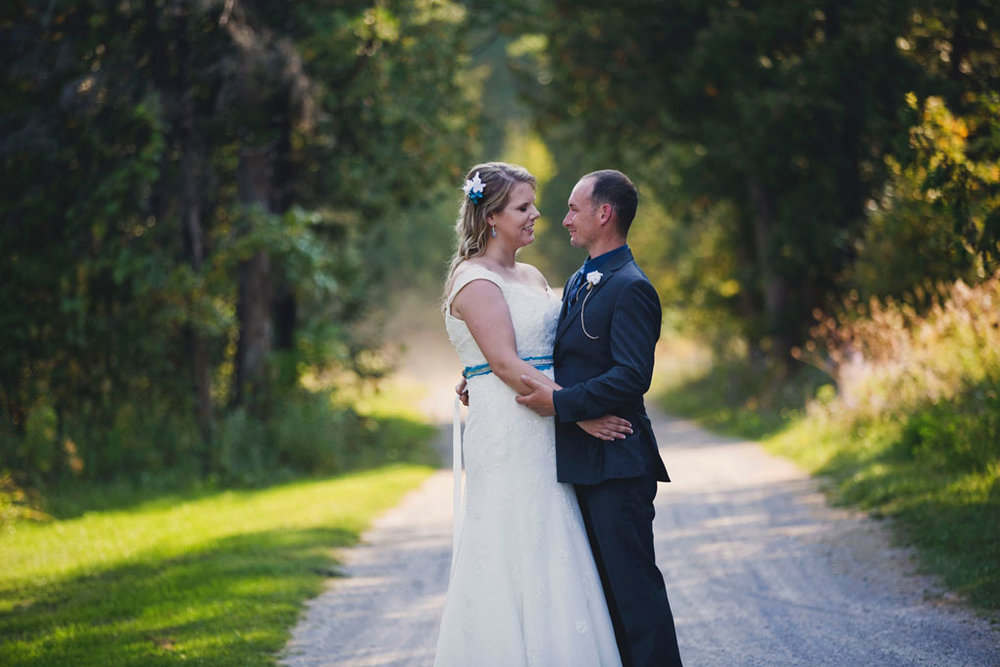 Sand Point Golf Course Wedding in Arnprior by Ottawa Wedding Photographer Joey Rudd Photography Bride and Groom Path