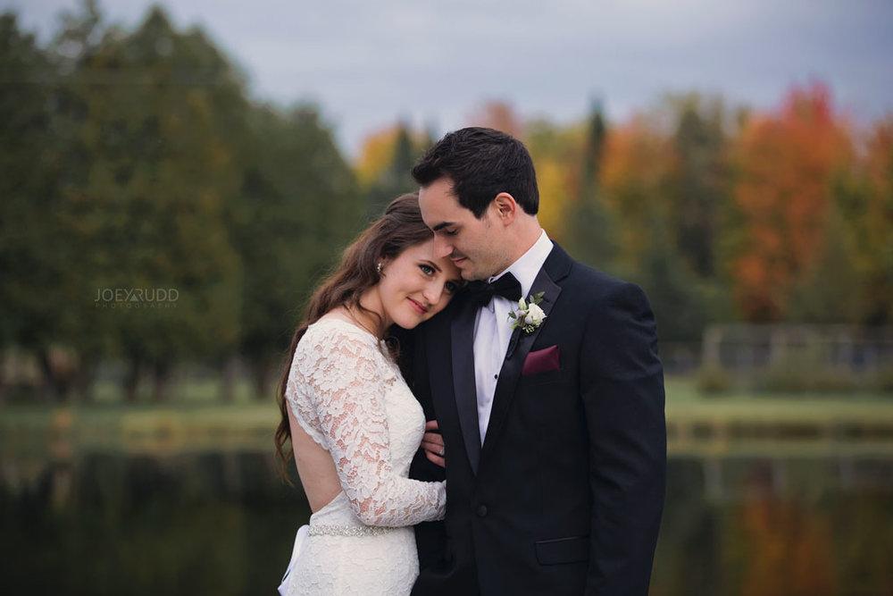 Orchard View Wedding by Ottawa Wedding Photographer Joey Rudd Photography Fall Wedding Pond Venue