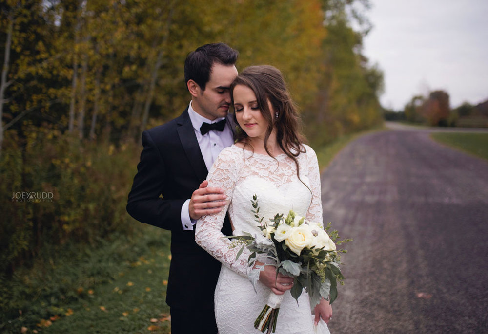 Orchard View Wedding by Ottawa Wedding Photographer Joey Rudd Photography Fall Wedding Road