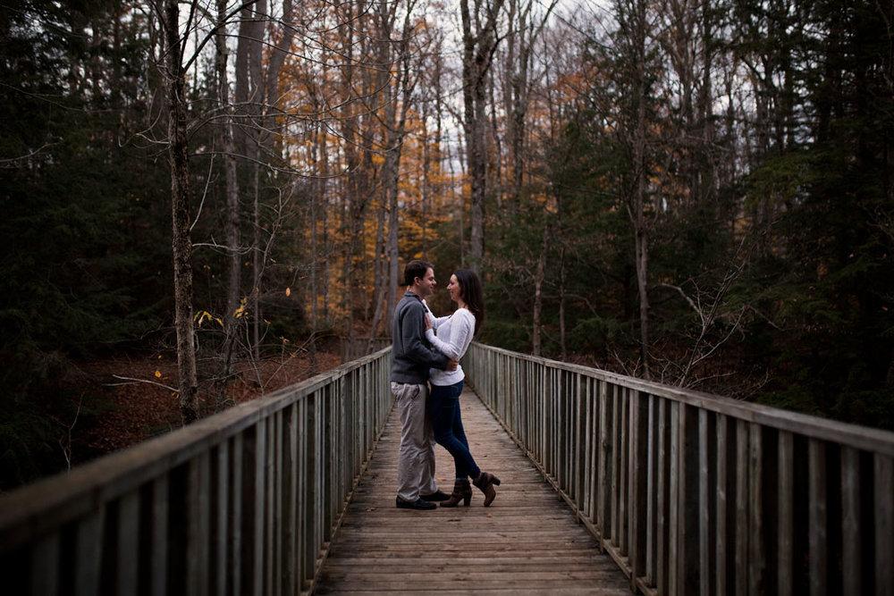 Mill of Kintail Engagement Fall Engagement Ottawa Wedding Photographer Joey Rudd Photography Bridge Boardwalk