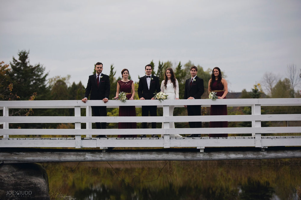 Orchard View Wedding by Ottawa Wedding Photographer Joey Rudd Photography Wedding Party Bridge