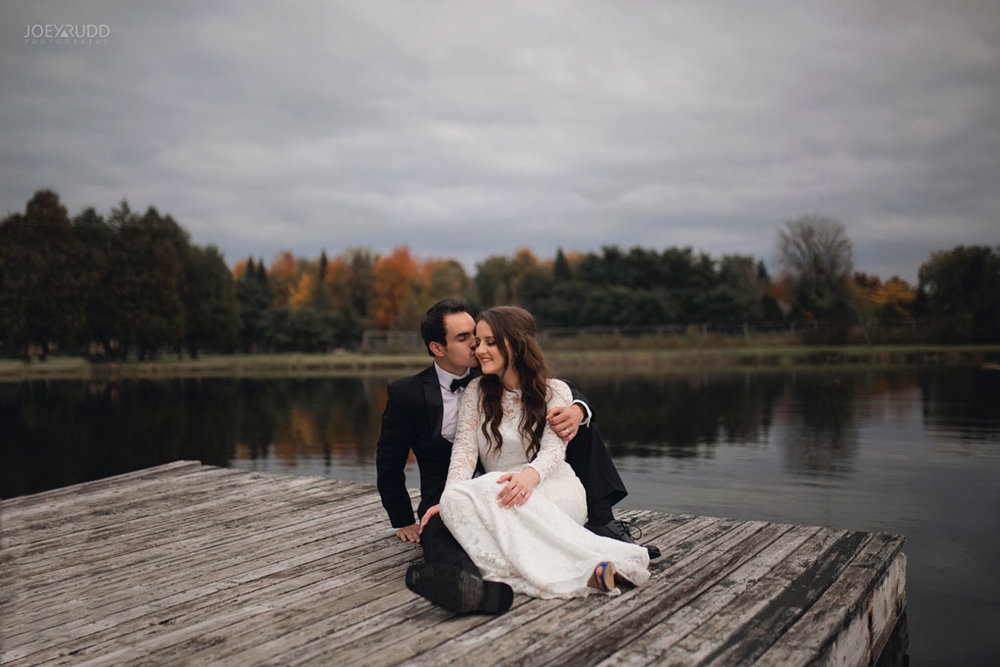 Orchard View Wedding by Ottawa Wedding Photographer Joey Rudd Photography Dock Water