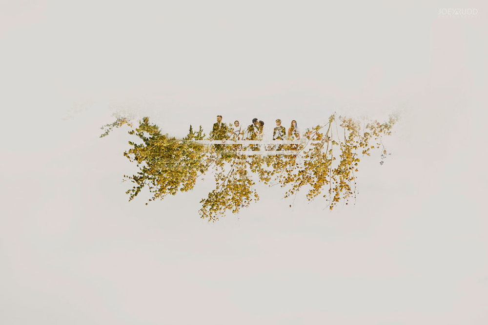 Orchard View Wedding by Ottawa Wedding Photographer Joey Rudd Photography Double Exposure Wedding Party