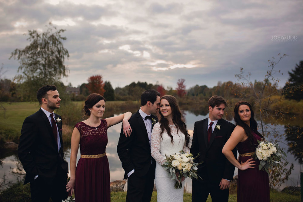 Orchard View Wedding by Ottawa Wedding Photographer Joey Rudd Photography bridal party fall