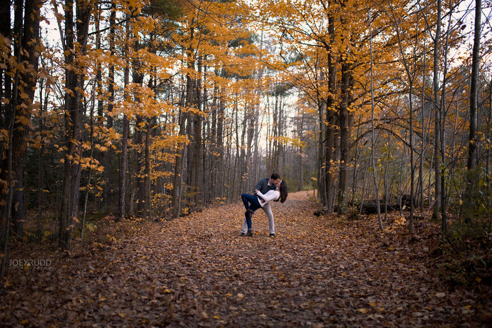 Mill of Kintail Engagement by Ottawa Wedding Photographer Joey Rudd Photography Fall Photos Leaves