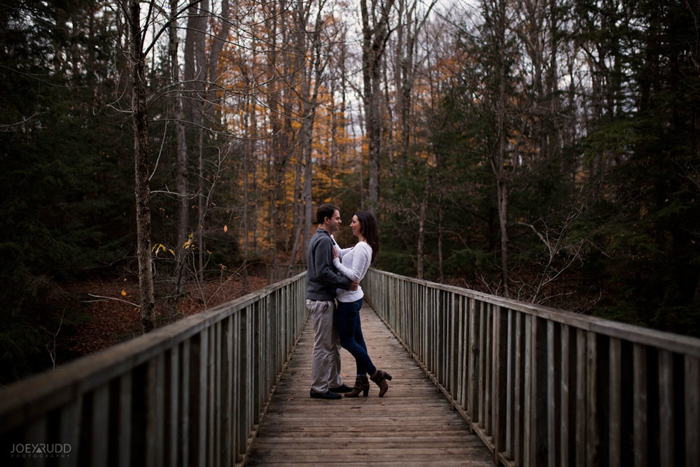 Fall Engagement at the Mill of Kintail by Ottawa Wedding Photographer Joey Rudd Photography Fall Photos Bridge