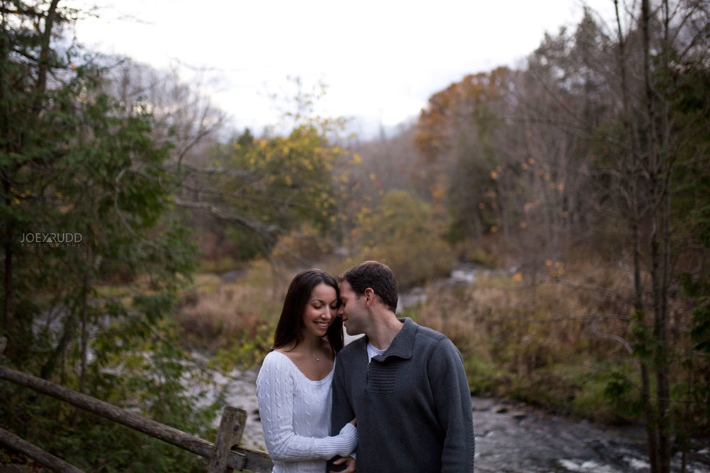 Fall Engagement at the Mill of Kintail by Ottawa Wedding Photographer Joey Rudd Photography Fall Photos River