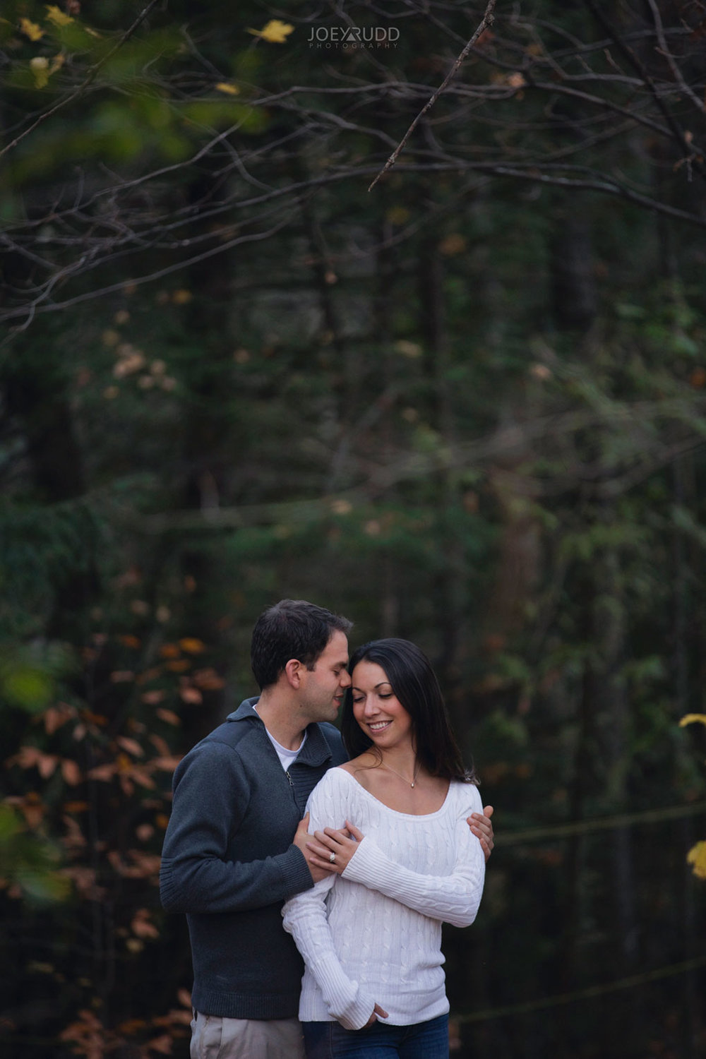 Fall Engagement at the Mill of Kintail by Ottawa Wedding Photographer Joey Rudd Photography Fall Photos Forest