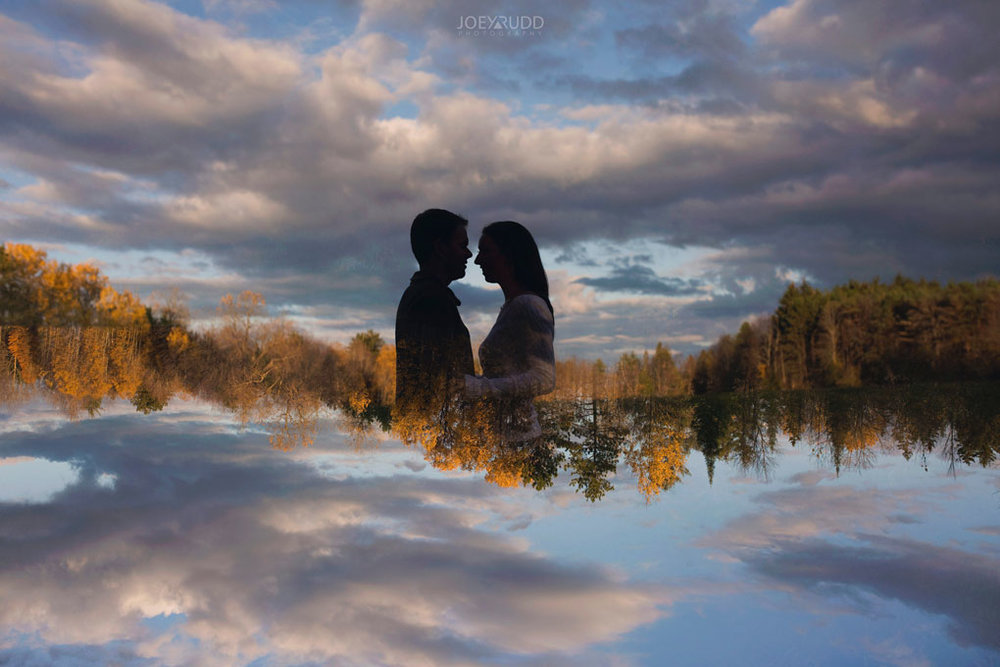 Fall Engagement at the Mill of Kintail by Ottawa Wedding Photographer Joey Rudd Photography Fall Photos Double Exposure