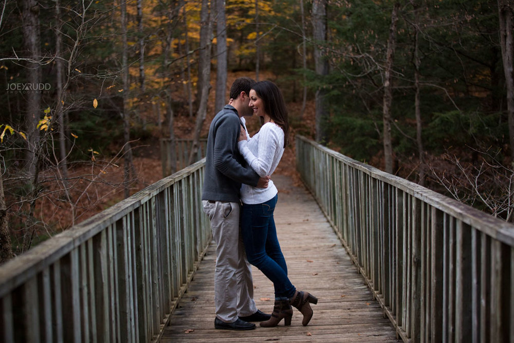 Fall Engagement at the Mill of Kintail by Ottawa Wedding Photographer Joey Rudd Photography Fall Photos Boardwalk