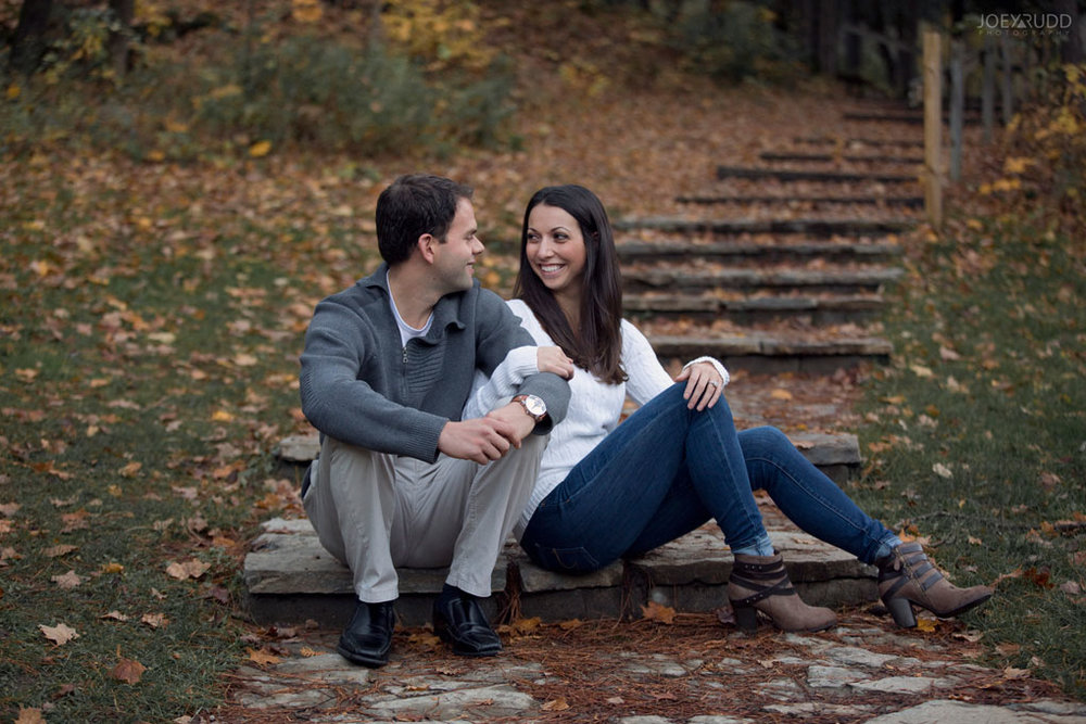 Fall Engagement at the Mill of Kintail by Ottawa Wedding Photographer Joey Rudd Photography Fall Photos Steps