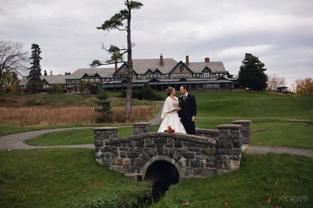 Fall Wedding at the Royal Ottawa Golf Course by Joey Rudd Photography  Wedding Venue Bridge