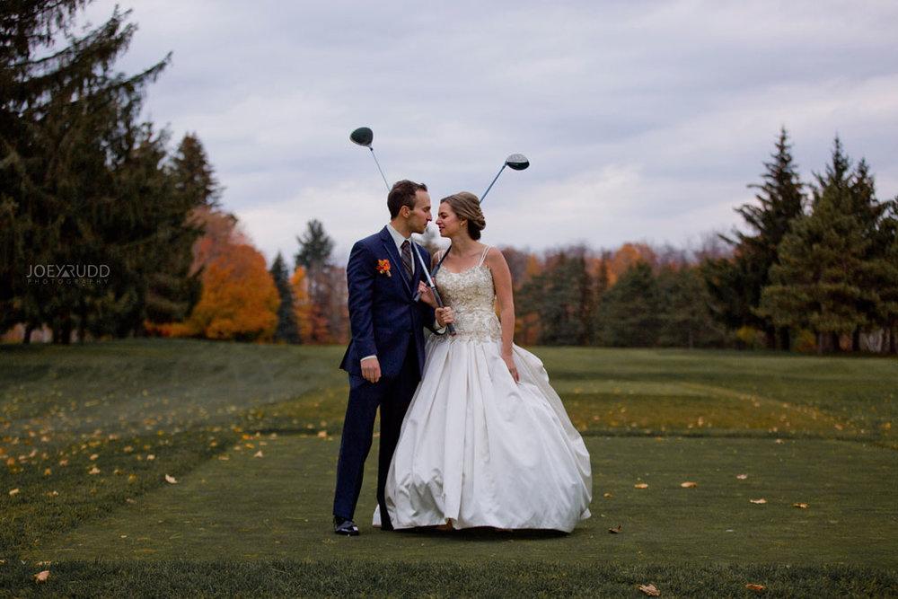 Fall Wedding at the Royal Ottawa Golf Course by Joey Rudd Photography  Golfing