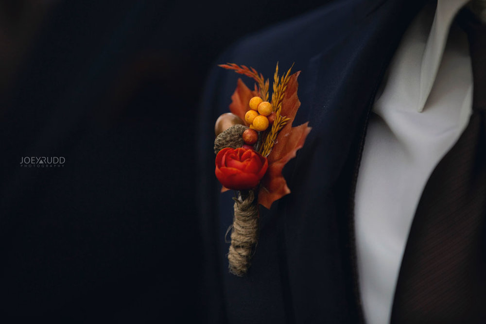 Fall Wedding at the Royal Ottawa Golf Course by Joey Rudd Photography  Boutenierres