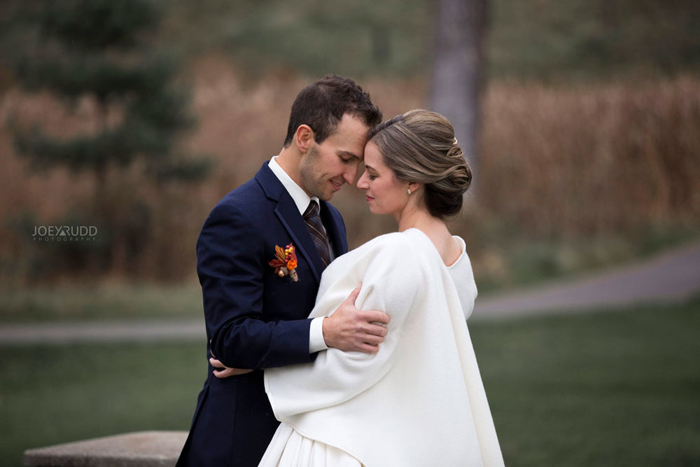Fall Wedding at the Royal Ottawa Golf Course by Joey Rudd Photography  Bride and Groom