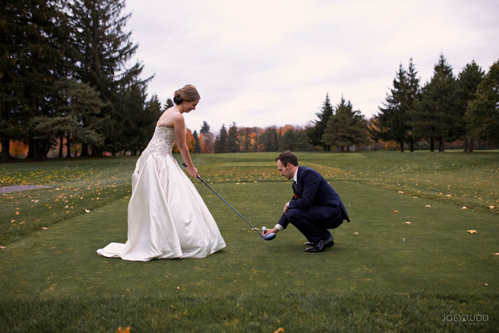 Fall Wedding at the Royal Ottawa Golf Course by Joey Rudd Photography  Golfing Tee Time