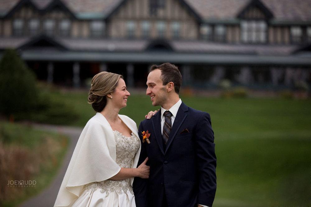 Fall Wedding at the Royal Ottawa Golf Course by Joey Rudd Photography  Bridge