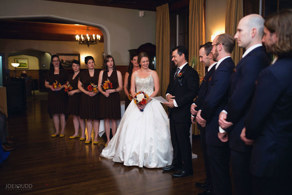 Fall Wedding at the Royal Ottawa Golf Course by Joey Rudd Photography  Ceremony