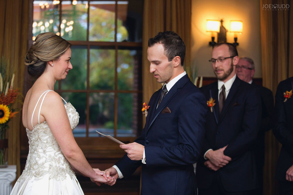 Fall Wedding at the Royal Ottawa Golf Course by Joey Rudd Photography  Ceremony Vows