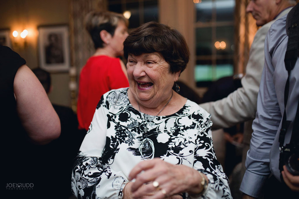Fall Wedding at the Royal Ottawa Golf Course by Joey Rudd Photography Reception Candid Reaction Happy