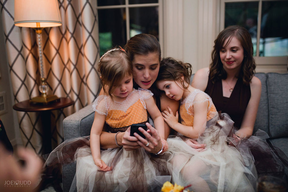 Fall Wedding at the Royal Ottawa Golf Course by Joey Rudd Photography Reception Candid Cute
