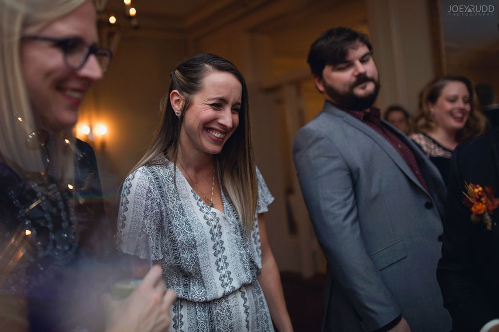 Fall Wedding at the Royal Ottawa Golf Course by Joey Rudd Photography Reception Candid Natural
