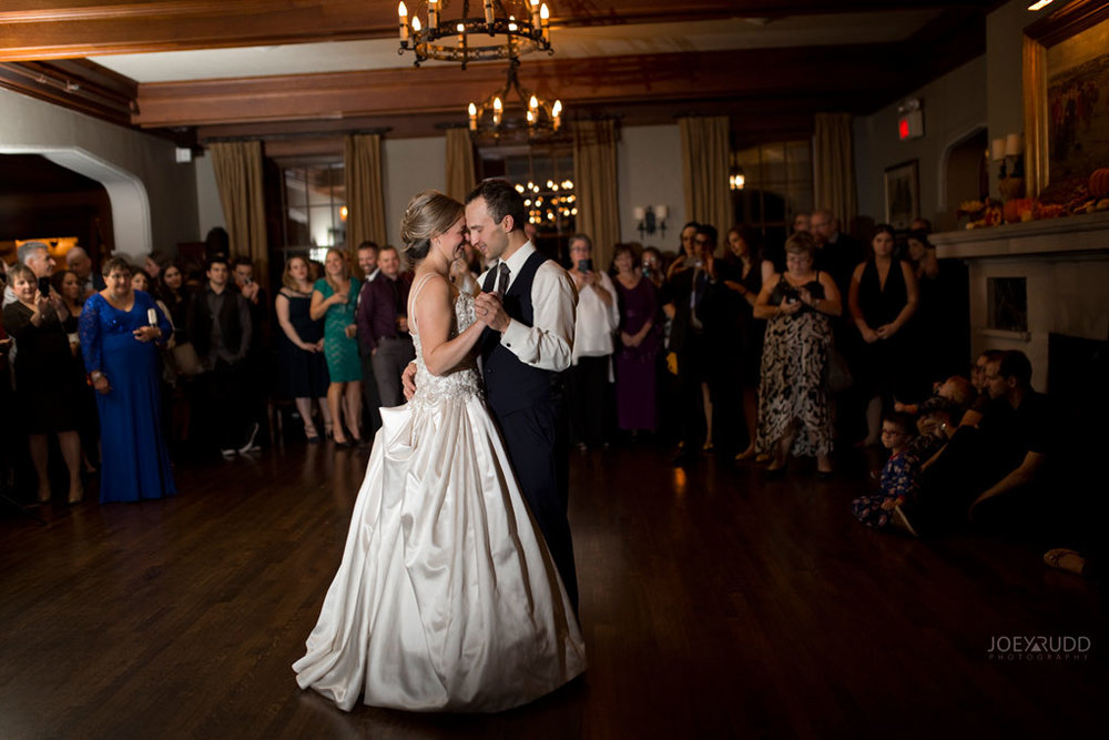 Fall Wedding at the Royal Ottawa Golf Course by Joey Rudd Photography Reception Candid First Dance
